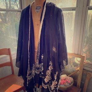 Light weight black shawl